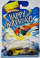 "(1) Hot Wheels Happy Birthday Cars TWIN MILL 3 III ""three"" YELLOW"