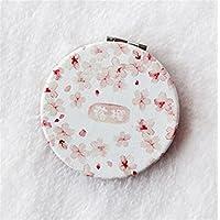 HuaQingPiJu-JP ミニラウンド漫画桜の花のパターン小さなガラスミラーサークル工芸装飾化粧品アクセサリー