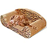 Cat Scratch Sofa Scratching Couch Post Corner Scratcher Toys Corrugated Cardboard Bed Pet Claw Scratch Resistant