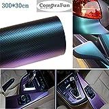 マジョーラ Lypumso 緑紫のカメレオン色彩 3Dカーボンシート ラッピングフィルム タイプ 300×30CM 緑紫