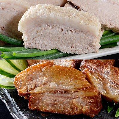 「まっくろ」と「まっしろ」煮豚2本セット 三代目肉工房 松本秋義 | 株式会社吉田ハム工場・静岡県