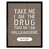 Dictionary Quote Dali Drug Hallucinogenic Artwork Framed Wall Art Print 9X7 Inch 見積もり 壁