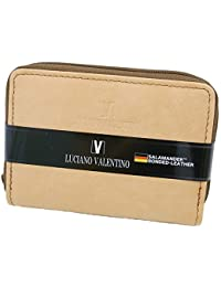 [LUCIANO VALENTINO(L-バレンチノ)] コンパクト財布&定期入れ 紳士用 luv7008-be ベージュ(ナチュラル) 【箱無し】