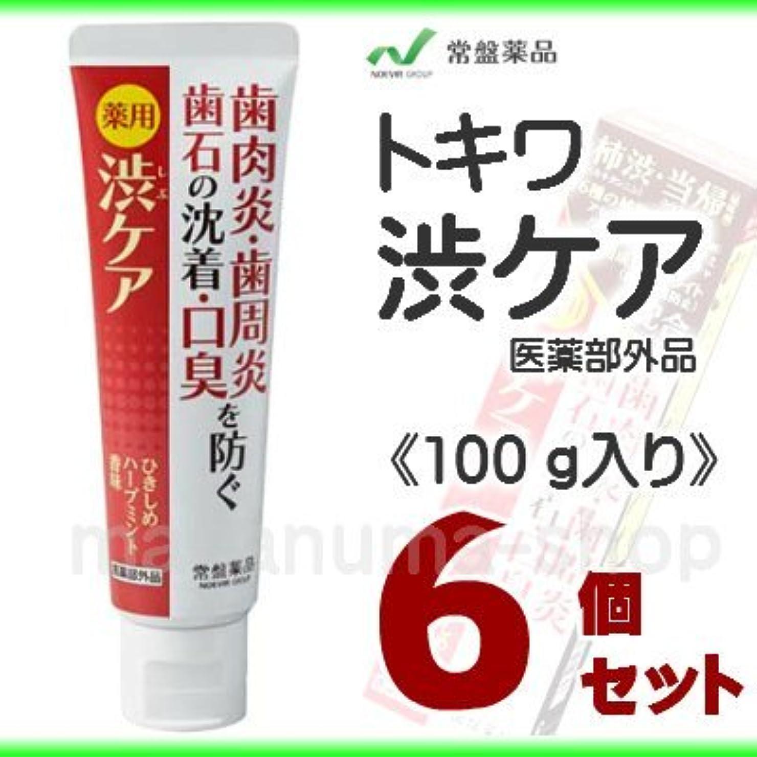 危険にさらされている冷ややかな炎上トキワ 薬用渋ケア (100g) 6個セット
