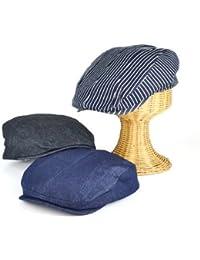 ノーブランド品 バックベルトデニムハンチング ヤング帽子