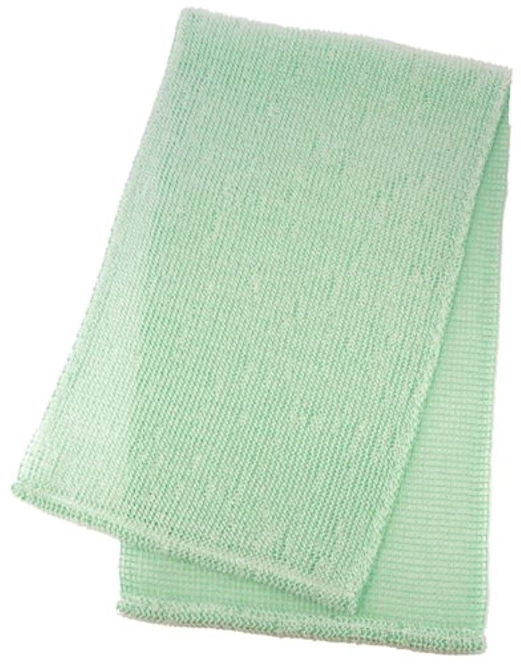 ファイバセイはさておき靴下マーナ ボディタオル 「泡工場」 グリーン B557G