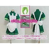 ウィッグ+靴下付き★東京ミュウミュウ  碧川れたす  メイド服 緑色 色変更可能 コスプレ衣装