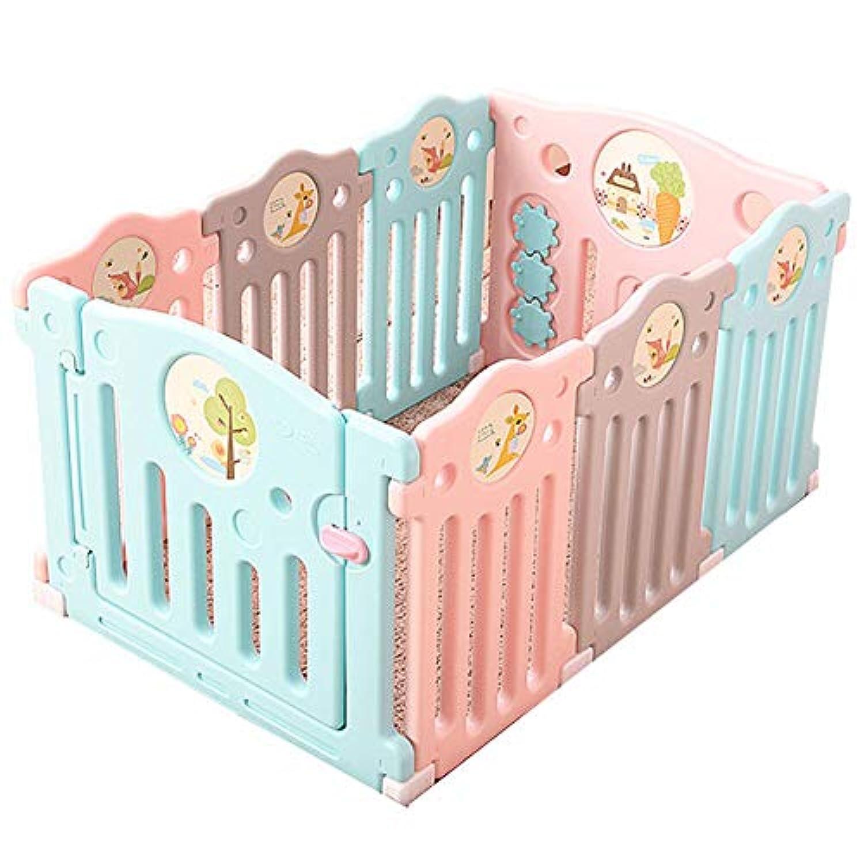 ベビーサークル ポータブル赤ちゃんの遊び場のボール赤ちゃんの遊び場屋内の子供のゲームフェンスの幼児の安全フェンス (色 : 6+2 Panels)