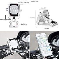 FidgetGear アルミニウムバイクのオートバイのハンドルバー4 ' - 6' '電話用360°回転マウントホルダー