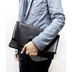 Tochigi Leather Clutch Bag 118-48-0007: Black