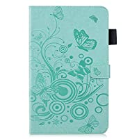 Abtory Huawei MediaPad M5 10.8 inch Case,[Butterfly Embossing] Slim Fit PU Leather Folio Stand Cover [Magnetic Closure] for Huawei MediaPad M5 10.8 inch Green