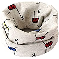 Bullidea Autumn Winter Toddlers Kids Scarf Cotton Warm Scarf O Ring Neck Scarves Collar Good Christmas Gift for Boys and Girls