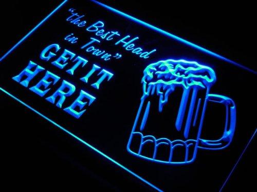 RoomClip商品情報 - LED看板 ネオンプレート サイン 電飾・店舗看板・標識・サイン カフェ バー ADV PRO s134-b Beer The Best Head Get Here Neon Light Sign