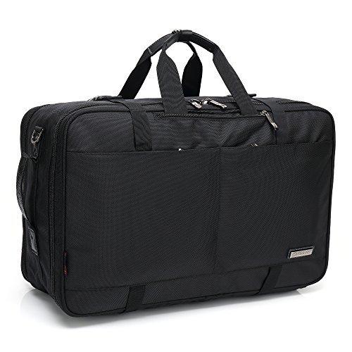 3wayビジネスバッグ スーツ収納袋付き 35L ブラック