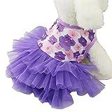 super1798かわいいペット服子犬猫犬Sweet Flowerガーゼスカートプリンセスチュチュドレス