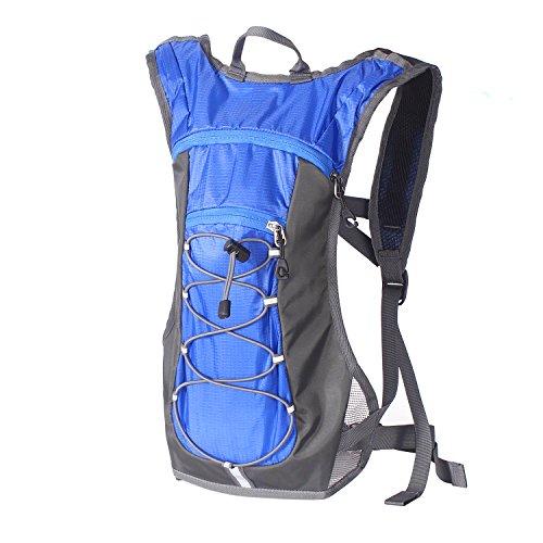 Unigear ランニングリュック 超軽量 5色 ハイドレーションバッグ サイクリングリュック 2L ウォーキング ジョギング マラソン レース 登山 遠足 (ブルー(リュックのみ))