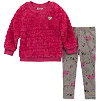 Juicy Couture Baby Girls 2 Pieces Tunic Legging Set -Faux Fur,