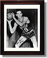 Framed Arnie Risen Autographレプリカ印刷–Boston Celtics
