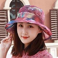 Chuiqingwang 帽子と少女とバイザーの裏側帽子太陽の帽子屋外ビーチ砂盆地キャップ帽子帽子キャップ (Color : Pink/B, サイズ : M)