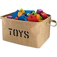 ストレージバスケット部屋の整理玩具、子供服、ベビー本、子供、ギフトバスケット、ペット、洗濯、犬おもちゃ – Woven Fabric Jute Basket – byスマートAdditions Extra Large ベージュ