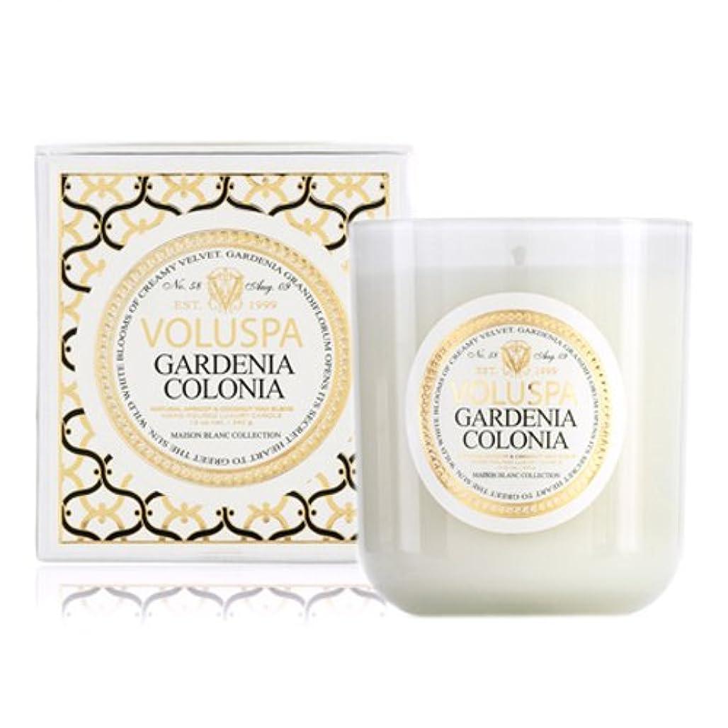 ゆりシリンダー中Voluspa ボルスパ メゾンブラン ボックス入りグラスキャンドル ガーデニアコロニア MAISON BLANC Box Glass Candle GARDENIA COLONIA