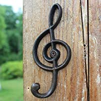 PLL ヨーロッパスタイルのレトロな鍛造の鉄の音符形状フック壁ハンギングコートフック