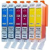 [ZAZ] BCI-326 CMY 各2本セット(計6本) 互換インク 〔 BCI-326C シアン 2本 〕+〔 BCI-326M マゼンタ 2本 〕+〔 BCI-326Y イエロー 2本 〕=計6本セット ( BCI-326+325/6MP or BCI-326+325/5MP 対応の 326の3色) canon 互換インク ICチップ付 残量表示可能 FFPパッケージ(326CMY)