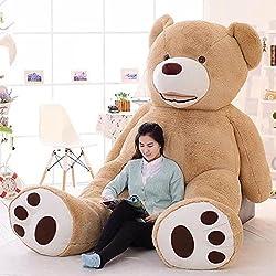 LOVESOUNDぬいぐるみ 特大 くま テディベア アメリカCostCo 可愛い熊 動物 大きい 巨大 くまぬいぐるみ 熊縫い包み クマ抱き枕 お祝い ふわふわぬいぐるみ (200cm, ブラウン)