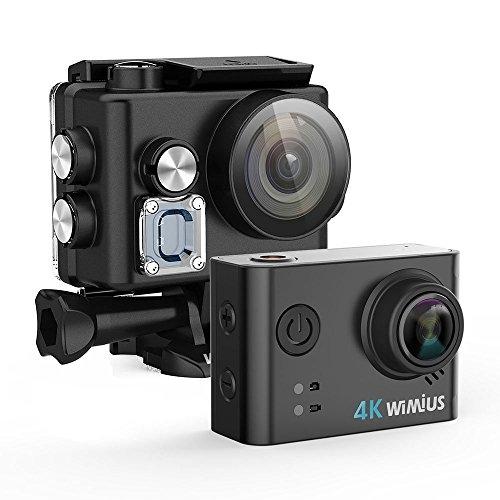 WIMIUS ウェアラブルカメラ 4K 16MP 60m防水 アクションカム バッテリ2個 スポーツ 戸外 旅行など用カメラ