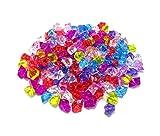 【ノーブランド品】 キラキラ アクリルアイス ロック 180個セット 園芸 装飾 宝石すくいなどに (ミックス)