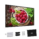 プロジェクタースクリーン 折り畳み式 ポータブル 84インチ 3D フルHD 4K解像度 アスペクト比 16:9 ホームシアター用 可視角度160° PPTプレゼンテーション ビジネス会議 教室 映画 適用