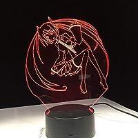 RTYHI アニメ セーラームーン カートゥーン ビューティー 3D LEDランプ 7色に変化するナイトライト クールガールズ ベッドルーム装飾ギフト TFGLKLTYGH-5430908