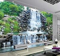 Chunxd 3D写真の壁紙自然壁画の滝牧歌的なスタイル3Dシルクの壁紙リビングルームのソファの背景壁紙壁画-120X100Cm