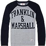 【フランクリンマーシャル メンズ】アーチロゴ ラグランニット SPORT GREY M FRANKLIN&MARSHALL