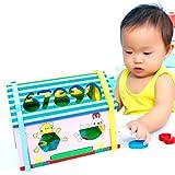 [ドリーマー] 木製ハウス 積み木 型はめ 形合わせ 立体パズル 智慧ハウス 組み立て 早期開発  数字 動物 赤ちゃん ベビー 子供 カラフル 可愛い