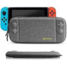 Nintendo Switch (ニンテンドー スイッチ) ケース、tomtoc 超薄 スリム 持ち運び キャリングケース ハードポーチ 8ゲームカード Nintendo Switch コントローラー アクセサリーポーチ– グレー