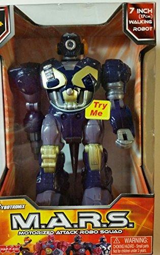 1 X M.A.R.S. Motorized Walking Cyber Bot Attack Robot Dark Blue w/Bronze/gold - Polar Captain by Cybotronix