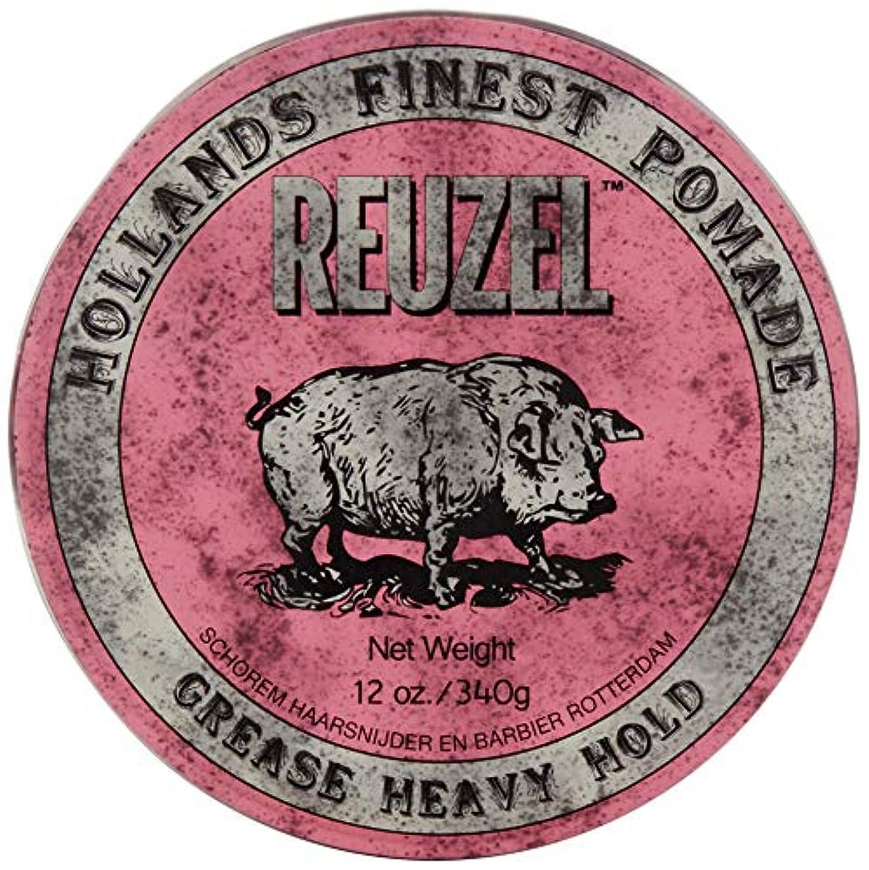 Reuzel Pink Grease Heavy Hold Pomade Hog 12oz by REUZEL