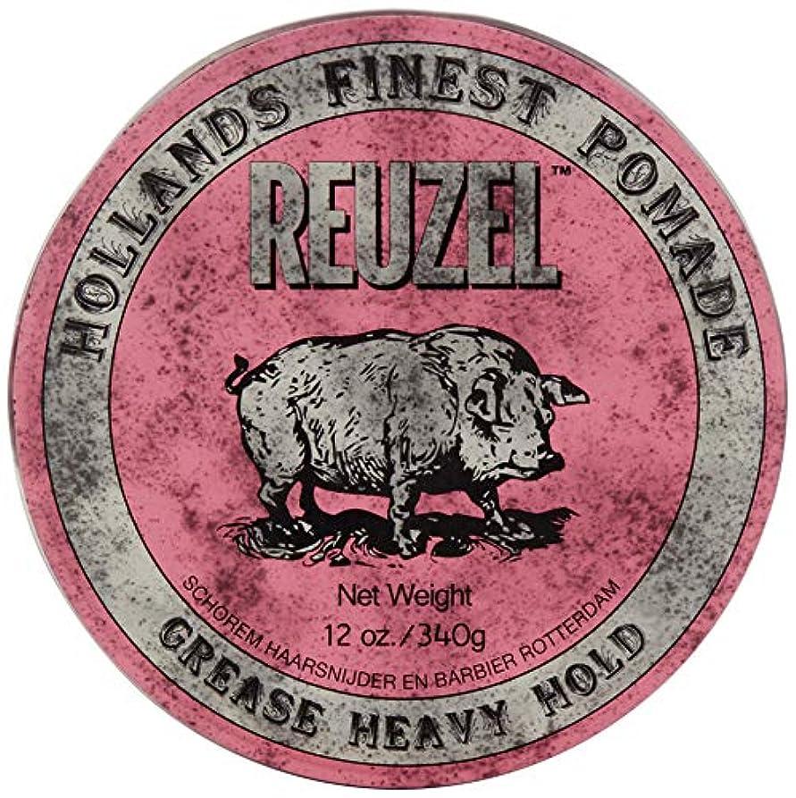 睡眠混雑ブリリアントReuzel Pink Grease Heavy Hold Pomade Hog 12oz by REUZEL