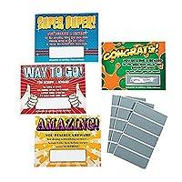 48 ~ Scratch Off Reward Cards ~ Approx. 4 1/4 X 5 1/2 ~ Lightweight Cardstock ~ New [並行輸入品]