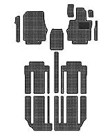 Hotfield 日産 セレナ C27系 (ガソリン車) フロアマット 千鳥格子柄 千鳥グレー 【C:フロント分割:パーツ分割/ロングスライド(標準仕様)】
