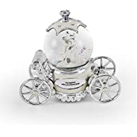 Romanticパールホワイト、アイボリーとシルバーFairy Tale Snow Globe Carriage 379. The Little Drummer Boy LRC-60341