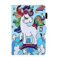 iPad Mini 1 2 3 4 5 ケース、かわいいシリーズ、人気 おしゃれ ケース 、 レインボーユニコーン