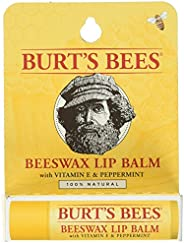 Burt's Bees Lip Balm, Beeswax Original with Vitamin E & Peppermint, 1 Tube, 4.