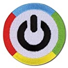 ビビッドレッド・オペレーション 電源マーク パッチ ワッペン 並行輸入品
