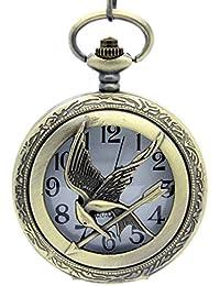 HGアンティーク効果時計ペンダントネックレス