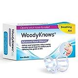口呼吸防止 いびき対策 Woodyknows 快眠 サポート イビキ防止軽減 鼻腔拡張器 ノイズピース ノーズピン 【3個入】(S)