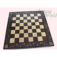 骨董品WorldロイヤルIndian Shahiアンティーク手彫り木製チェスセットヴィンテージPiecesボード木製チェスボードawusacb 01