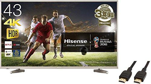ハイセンス 43V型 4K液晶テレビ HJ43N5000(HDMIケーブル(1.8m) 付)