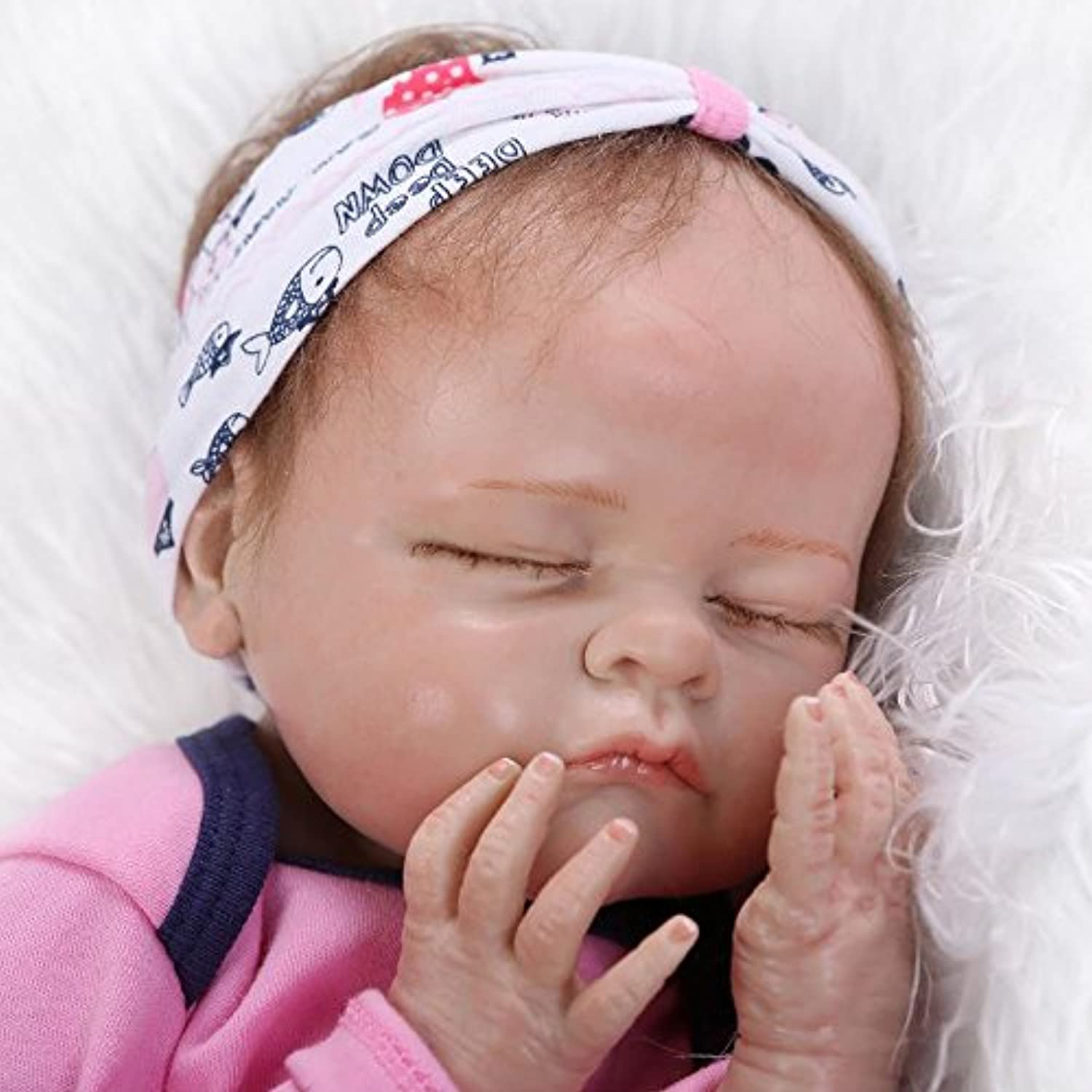 Realistic Reborn Girls Real Looking Lifelikeベビー人形55 cm Washable Toys Gift for Toddlers